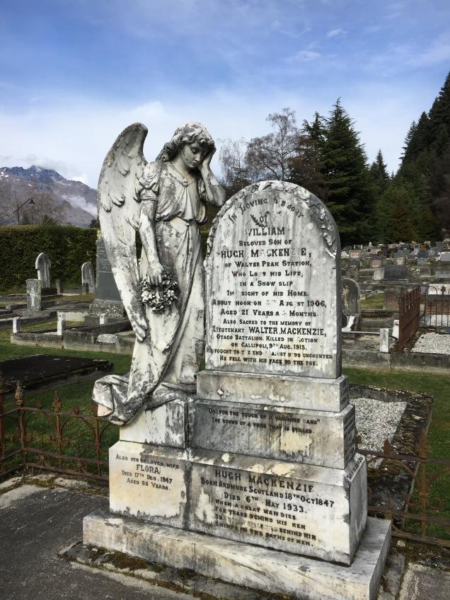 Cemetery in Queenstown