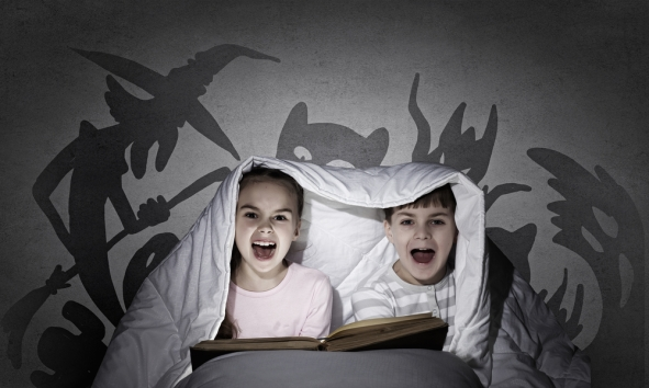 children screaming in bed