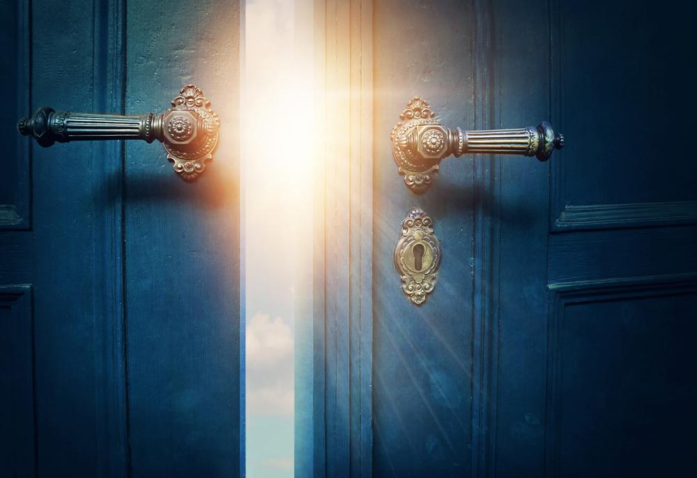 fairy tale opening door
