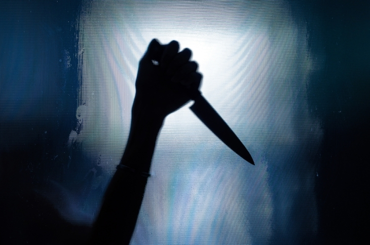 knife and curtain
