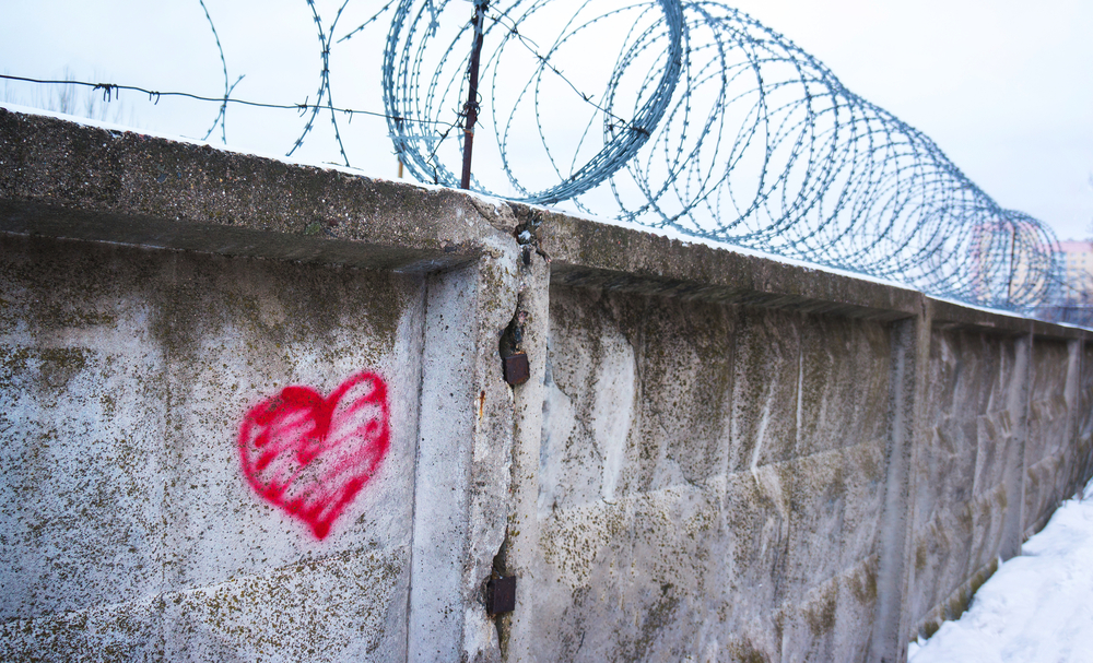 love barbed wire fene