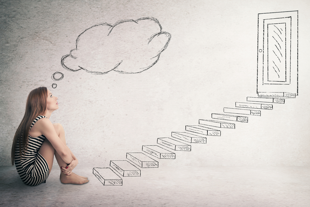 mental space steps to door