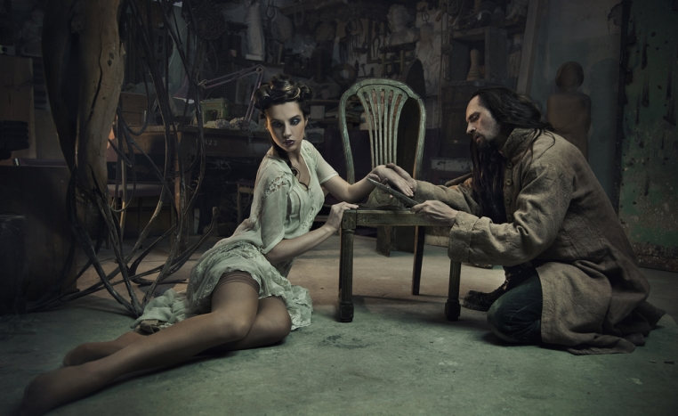 beauty and the beast in attic