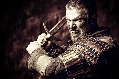 Fantasy battle warrior