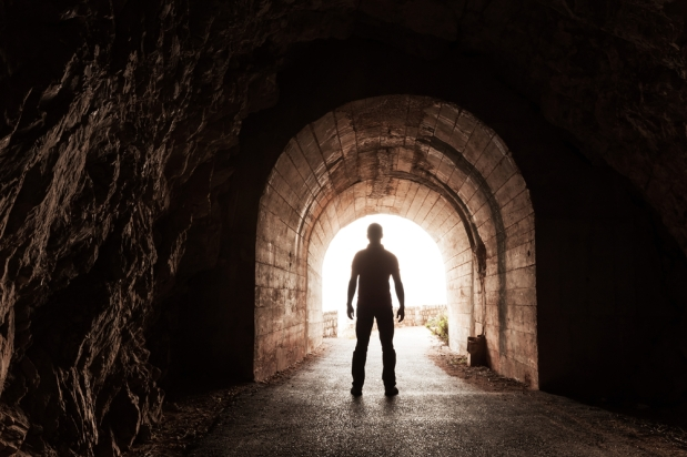 man in tunnel for merlin