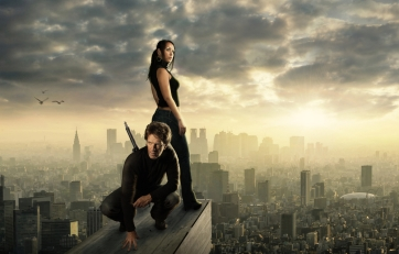 paranormal couple on top of city