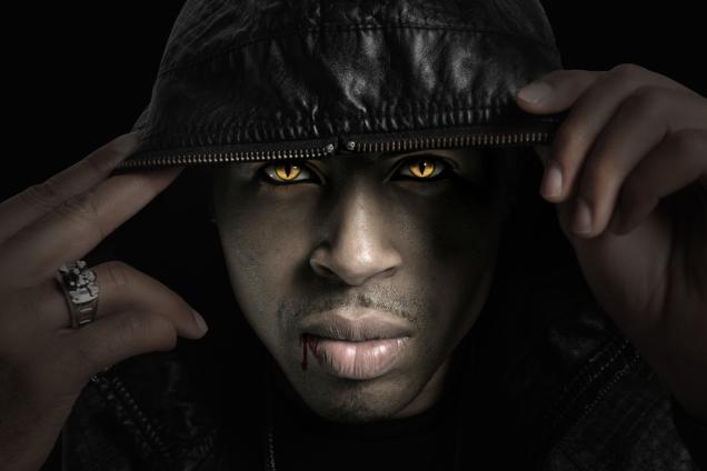 paranormal vampire or changeling in hood