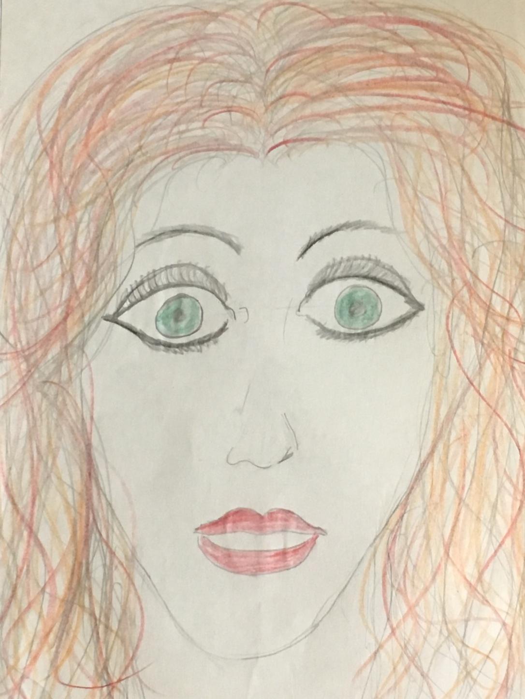 old sketch portrait