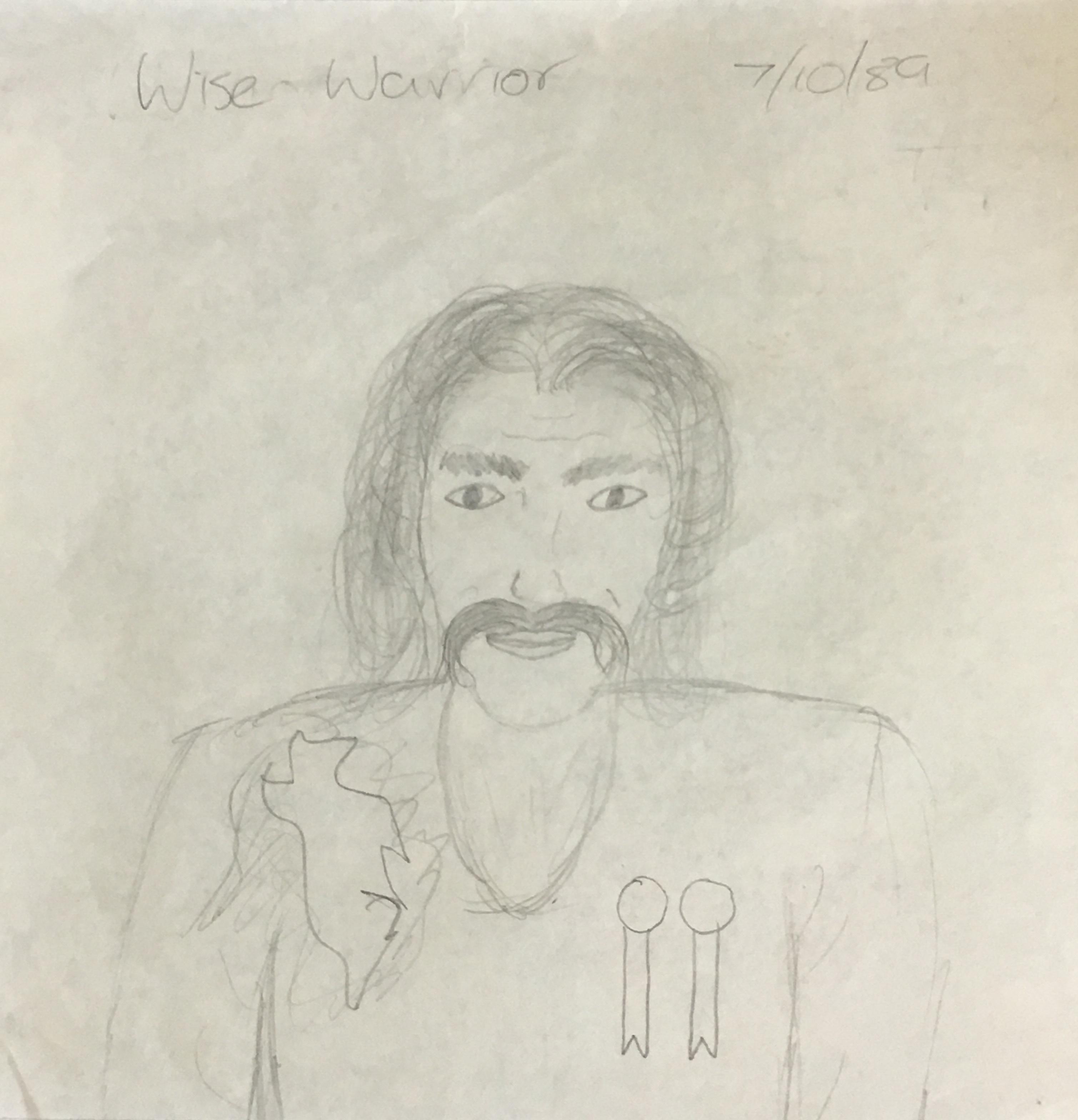 Old sketch wise warrior